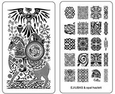 Ejiubas Double-Sided Nail Stamping Plates Celtics Style Easy DIY Nail Art Nail Design Plates 1 Count -- Awesome products selected by Anna Churchill