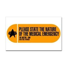 Nature of the Medical Emergency Sticker (Rectangle for
