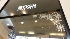 Hugo Boss Christmas graphics in Chapelfield, Norwich