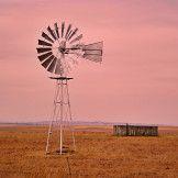Artist: Engela Vermeulen   metal posters - Displate #Windmill #Displate #OrangeFreeState #Dam #Water #SouthAfrica