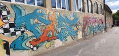 Österreich-Klagenfurt-Linsengasse Klagenfurt, Murals, Travelling, Street Art, Wall Paintings, Mural Painting, Wall Murals, Mural Art