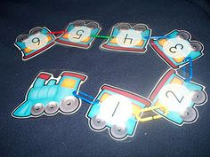 Number train - link to download of this and other train printables for free