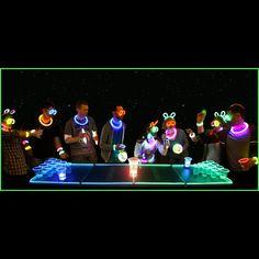 GlowPong Glowing Game Table