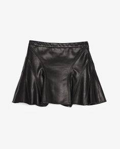 10 Crosby Derek Lam EXCLUSIVE Flared Leather Skirt