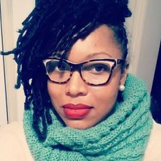 "Another Pinner: ""locs, lipstick and cool glasses!"" 