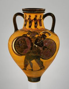 Terracotta neck-amphora (jar) Attributed to a painter of the Princeton Group 540–530 B.C. Greek, Attic