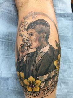 #Thomas Shelby, #Peaky Blinders tattoo, #Cillian Murphy By Helena Heath @ Inklination Gosport Hampshire