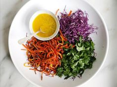 Carrot and Cabbage Salad with Poppy Seed Dressing