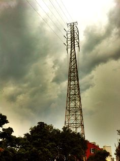 Electric Tower prior to rain storm, near the French Market.