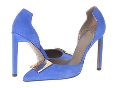 Versace Collection Suede Pointed Toe Pump