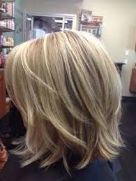 Image result for medium length layered haircut with chunky highlights