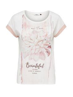 Girls Tees, Shirts For Girls, Slogan Tshirt, Cloud Dancer, Cute Tshirts, Flower Fashion, T Shirts With Sayings, Tee Design, Printed Shirts