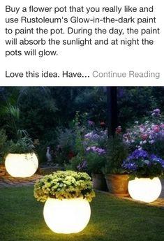 Glow-in-the-dark Pots!