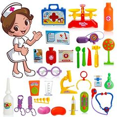 LING'S SHOP Kids Role Play Kit Toy Handy Medical Carry Case Pretend Doctor Or Nurse Set for Child Gift Box * This is an Amazon Affiliate link. You can find out more details at the link of the image.