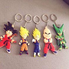 Lot 5 Dragon Ball Porte Cles Clef Vegeta Goku Cell Gohan Anime Manga Super Destockage Goodies