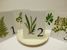 Wedding Table Numbers for Woodland Wedding, Table Tents of  Spring Table Cards,  Leaf Table Numbers, Wedding Table Cards on Etsy, $2.50