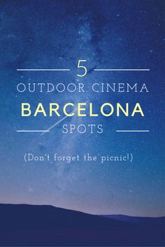 There's a lot going on around town in the summer, but one of our favorite activities is going to one of the many outdoor cinemas in Barcelona. From the beach to the hills, there are some pretty spectacular places to see a movie outdoors! Cheap Travel, Budget Travel, Travel Advice, Travel Tips, Travel Hacks, Travel Deals, Travel Essentials, Travel Stuff, Solo Travel