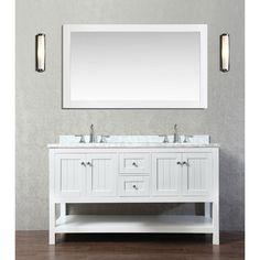 "Found it at Wayfair - Emily 60"" Double Bathroom Vanity Set with Mirror"