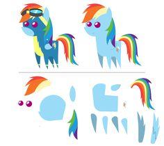 Pointy Ponies: Rainbow Dash [UPDATE] by EStories.deviantart.com on @DeviantArt