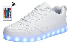 MOHEM ShinyNight LED Shoes Light Up USB Charging Flashing Sneakers1687009AllWhite39 ** Continue to the product at the affiliate link Amazon.com.