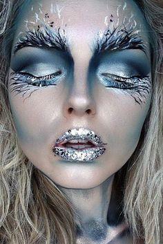 18 Pretty Halloween Make-up Ideas Crazy Makeup, Pretty Makeup, Awesome Makeup, Cool Makeup, Makeup Fx, Face Makeup Art, Makeup Bags, Face Art, Hair Makeup