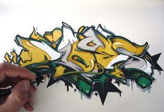 MORE THAN PAINT STAINS - DOES hails from the Netherlands and takes his name from the Third Person sungular of To Do. He started writing Graffiti in 1996 and since that time has developed his style into one of the most intricate and interesting letter creators in Graffiti. His influence stems from Wildstyle and basic forms with an influence of graphic effects. DOES is part of Love Letters crew, including writers from around the world and is also a key member of Ironlak Team Europe.