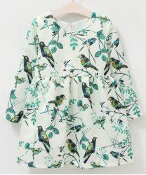 SHARE & Get it FREE   Stylish Round Neck Long Sleeve Bird Print Dress For GirlsFor Fashion Lovers only:80,000+ Items • New Arrivals Daily • Affordable Casual to Chic for Every Occasion Join Sammydress: Get YOUR $50 NOW!