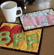 Text Talk: BFF Mug Rug Pattern - via @Craftsy
