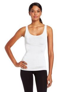 NWT Maidenform Comfort Devotion Scoop Neck Tank #1276 White Modal Shaping R.$44 #MaidenformComfortDevotionShapewear #ShapingTops1276slimming