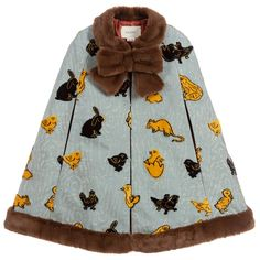 Black N Yellow, Teal Blue, Girls Cape, Cape Pattern, Baby Suit, Blue Coats, Blue Velvet, Blue Dresses, Gucci Kids