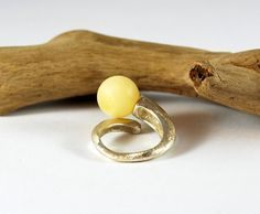 Genuine Baltic Amber Ring Amber And Sterling by AmberAndMore