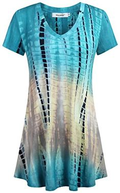 da7684f3368 Shop the latest collection of Sixother Womens Tie Dye Tunics Summer Casual  Short Sleeves Tops Flowy Blouses from the most popular stores - all in one  place.