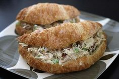 Chicken Salad Croissant Sandwiches recipe
