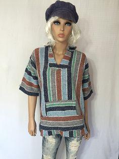 Vintage 1970s Baja Surf Hoodie 70s Drug Rug by GypsysClosetVintage