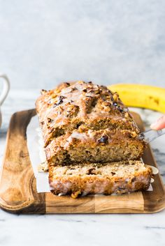 This Banana Walnut Bread recipe is easy to make and creates a moist and delicious loaf that's perfect for breakfast or dessert.