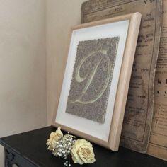 Initiale D en paperolles - quilling - vintage - vieux papiers - poésie - shabby - brocante - DANS.MABESACE - www.dansmabesace.com