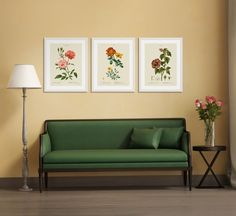 Collections, Book Illustrations, Floral Series Skyline Art, Floral Illustrations, Sofa, Collections, Books, Furniture, Home Decor, Style, Settee
