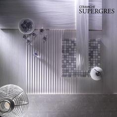 Rivestimenti piastrelle bagno RE.SI.DE. dettaglio del mosaico Bardiglio/Madera, formato 30.5x30.5 RT    #piastrellebagno