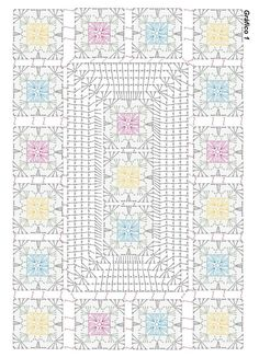 Crochet flower very easy tutorial – Artofit Beautiful granny square with p Crochet chart for two granny s This Pin was discovered by Dun Granny and other stitches Crochet Mat, Manta Crochet, Crochet Blocks, Crochet Pillow, Crochet Diagram, Crochet Squares, Crochet Home, Crochet Granny, Filet Crochet