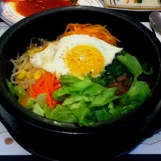 Korean food!! (you can take out the egg) :)