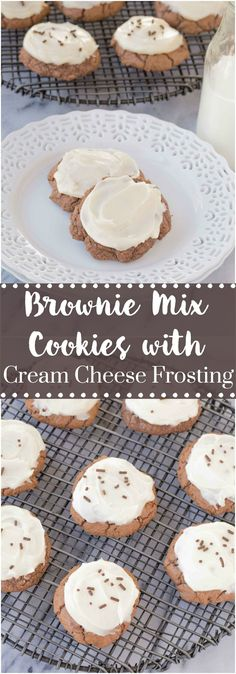Brownie Mix Cookies with Cream Cheese Frosting are so decadent, you wouldn't know how easy they are to make. These cookies will be gone before you know it!