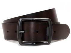 Nickel Smart Full Grain Leather Belt with Nickel Free Bottle Opener Buckle Cold Mountain Black Belt