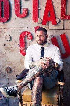 """""""Tattoos are for the daring and brave—a bold kind of fashion and art collecting. I like that it's not for everyone.""""   luke wessman, wooster street social club"""