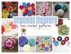 flower crochet pattern collection!  Soooo many free flower patterns at this site!