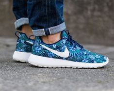 new style 2f4f6 7706d Nike Roshe One Print Premium Men Women Sneakers Running Shoes Royal Blue  White