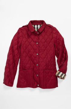 Burberry 'Mini Pirmont' Quilted Jacket (Little Girls & Big Girls) | Nordstrom