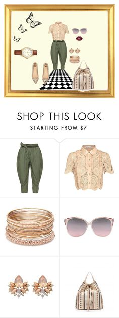 """""""look 3"""" by lucianatsd on Polyvore featuring moda, Isolde Roth, self-portrait, Red Camel, River Island, Braccialini e Lime Crime"""