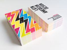 Graphic identity for LAD, an organisation created with the aim of promoting Latin American Design worldwide. Unique Business Cards, Business Card Design, Corporate Identity, Brand Identity, Letterpress Business Cards, Bold Fonts, Logo Design, Graphic Design, Name Cards