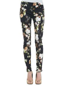 The Skinny Nighttime Floral-Print Jeans by 7 For All Mankind at Bergdorf Goodman.