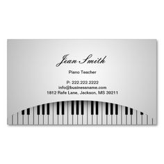 Pure White Piano Keys Piano Teacher Profile Card Business Card Templates. This great business card design is available for customization. All text style, colors, sizes can be modified to fit your needs. Just click the image to learn more!